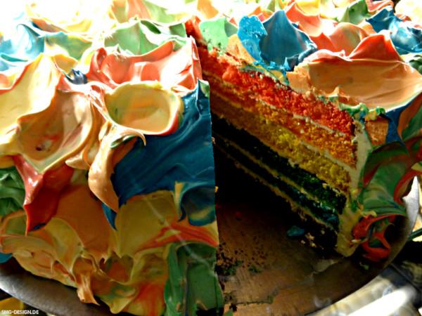 Regenbogentorte – Rainbow Cake